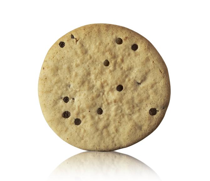 Biscotto rotondo con gocce di cacao
