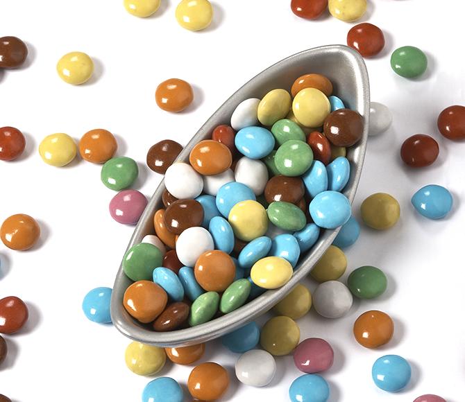 mix di praline colorate -mini lenti -