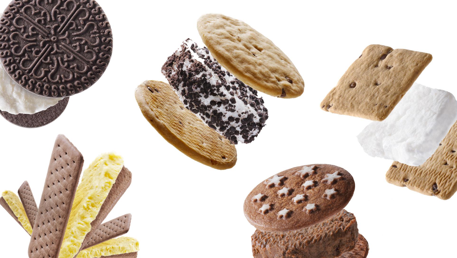 varietà di gelati